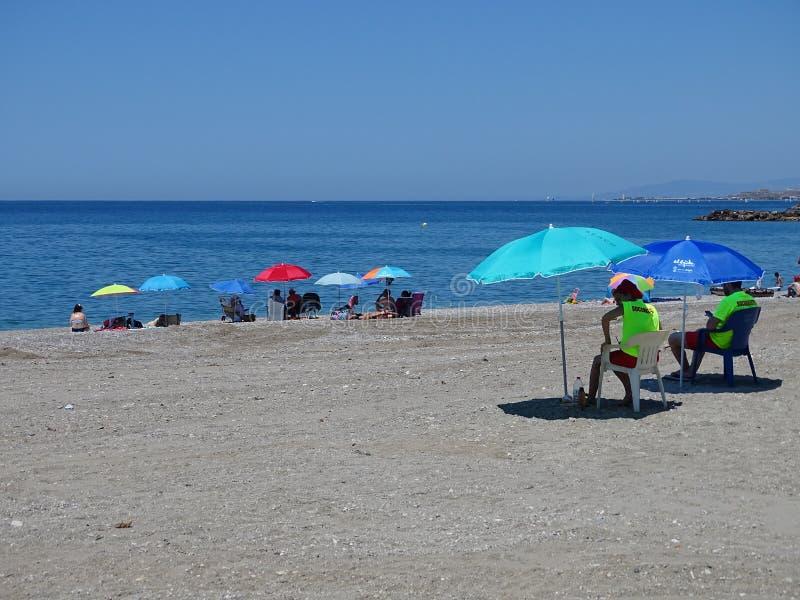 Strand des San Miguels von EL Ejido Almeria Andalusia Spain lizenzfreies stockbild