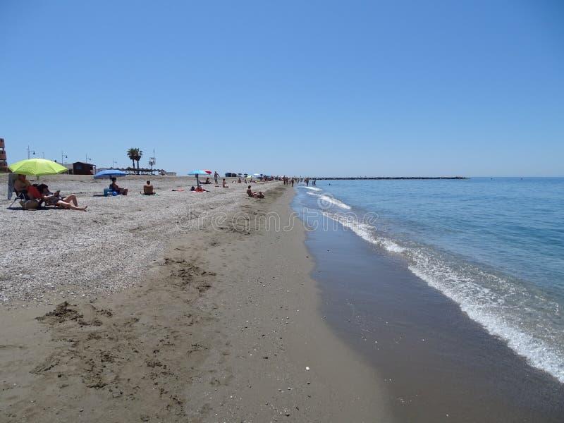 Strand des San Miguels von EL Ejido Almeria Andalusia Spain lizenzfreies stockfoto