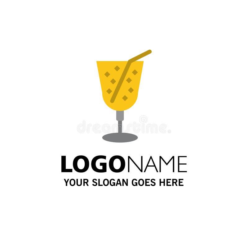 Strand drink, Juice Business Logo Template plan f?rg royaltyfri illustrationer