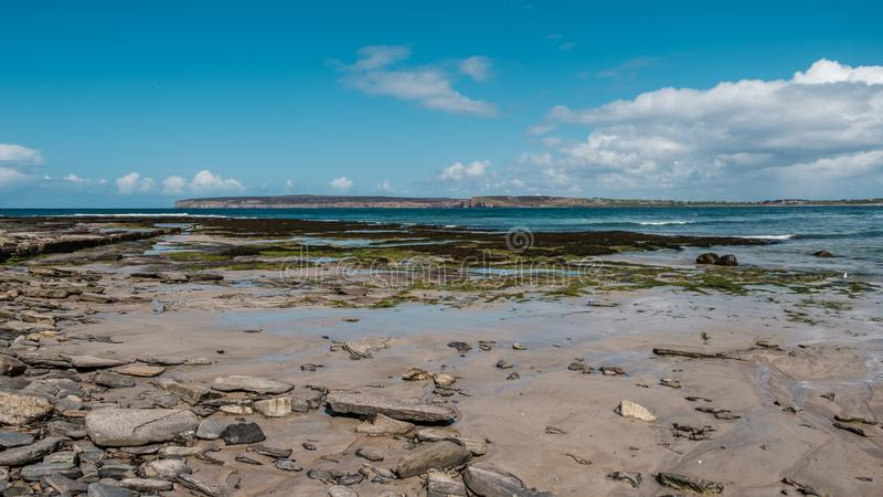 Strand in Dunnet in Caithness in Schotland stock foto