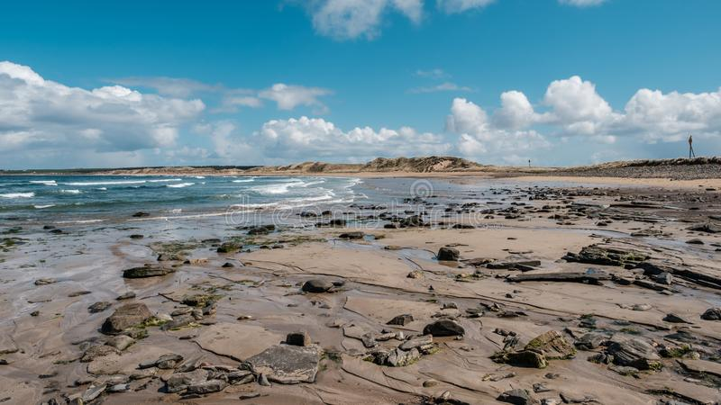 Strand in Dunnet in Caithness in Schotland royalty-vrije stock fotografie