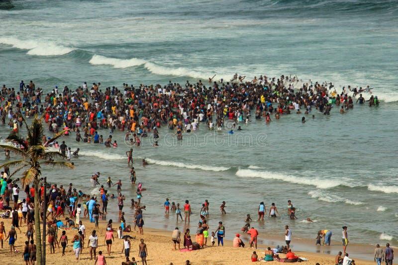Strand in Durban, Zuid-Afrika royalty-vrije stock foto