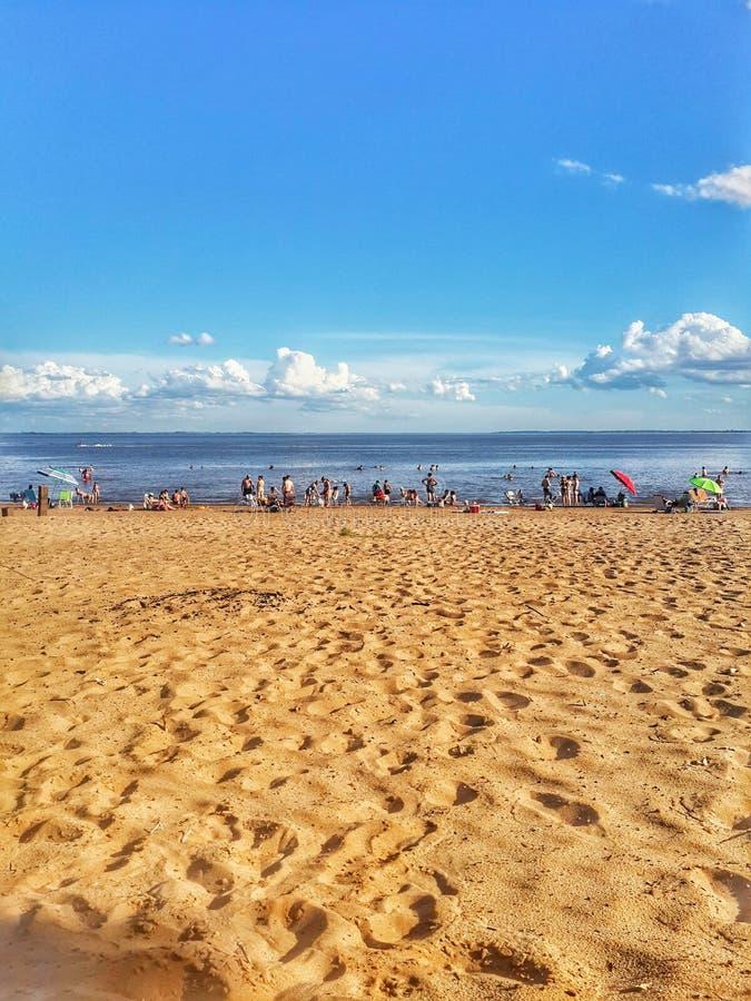 strand een weekend royalty-vrije stock fotografie