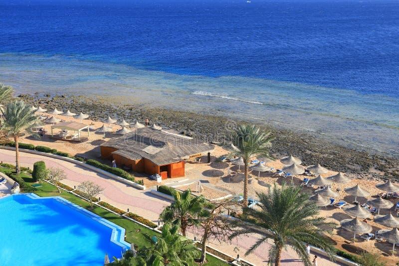 Strand in Egypte stock fotografie