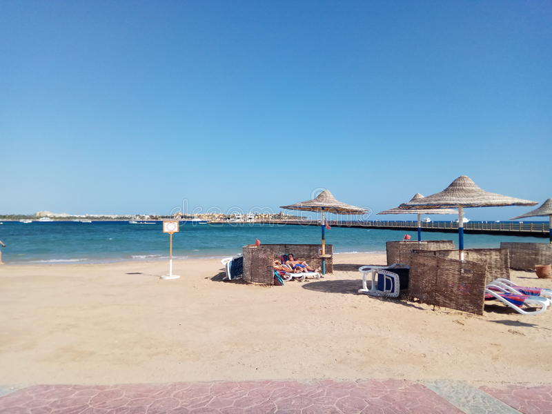 Strand in Egypte, macadibaai stock foto