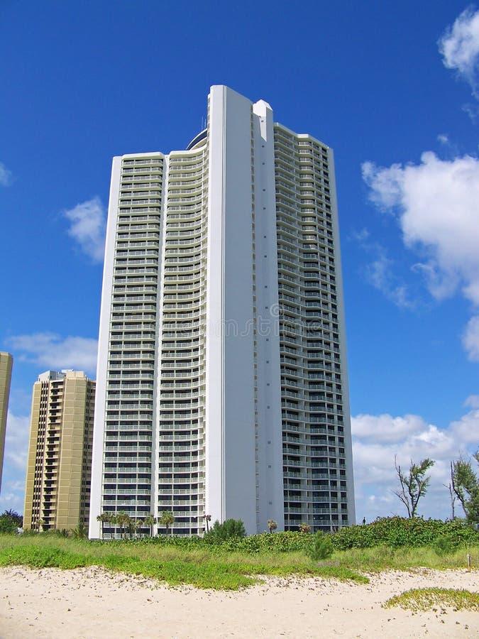 Strand-Eigentumswohnung stockbilder