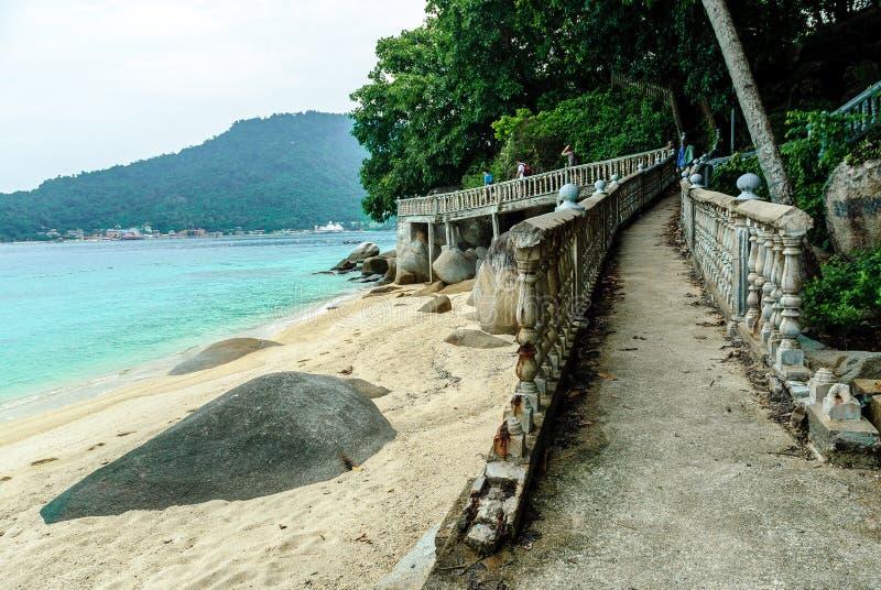 Strand in einer Insel von Malaysia stockbild