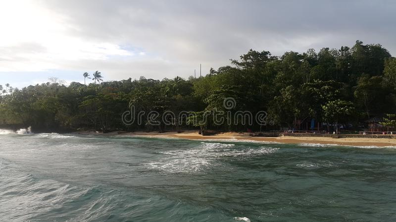 Strand en Golf royalty-vrije stock afbeelding