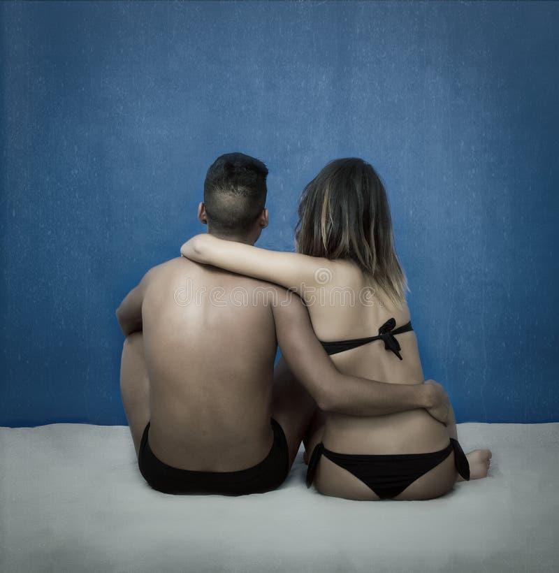 Strand en romantiek stock foto's