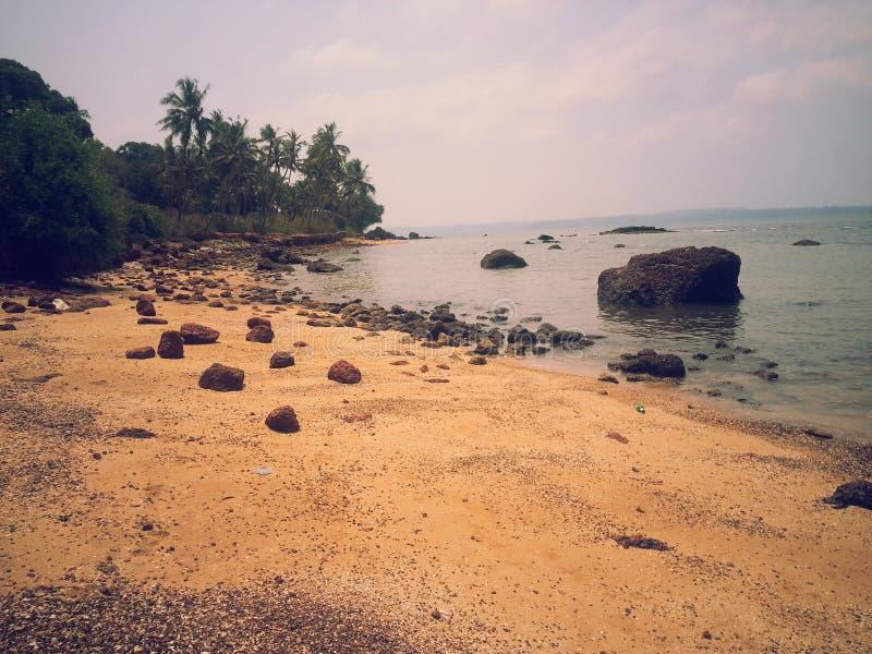 Strand en zand royalty-vrije stock fotografie