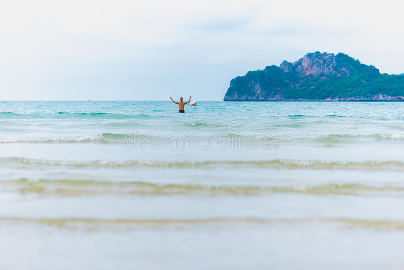 Strand för Ao Manao fotografering för bildbyråer