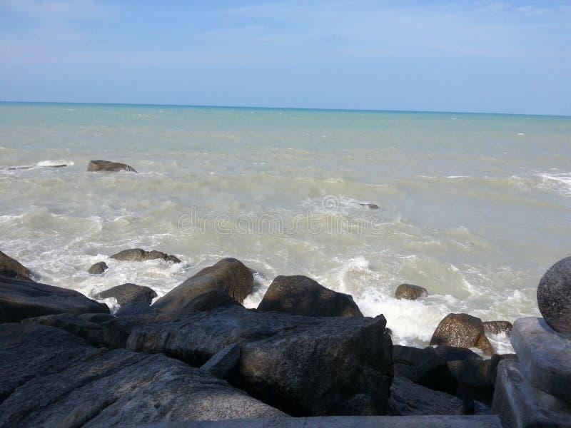 Strand för Bangka ö arkivfoto