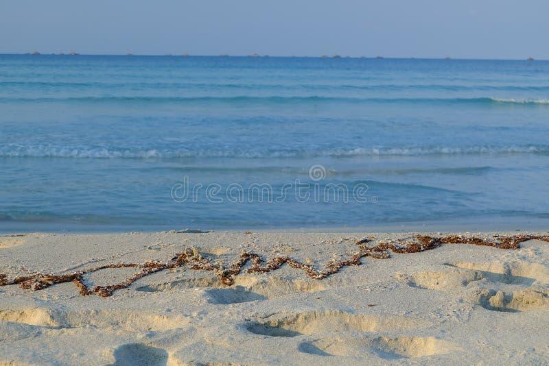 Strand för blått för hav för blått för blå himmel arkivfoton