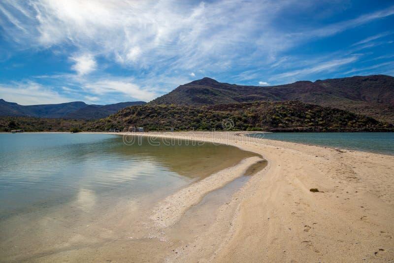 Strand för blått vatten i Baja California fotografering för bildbyråer
