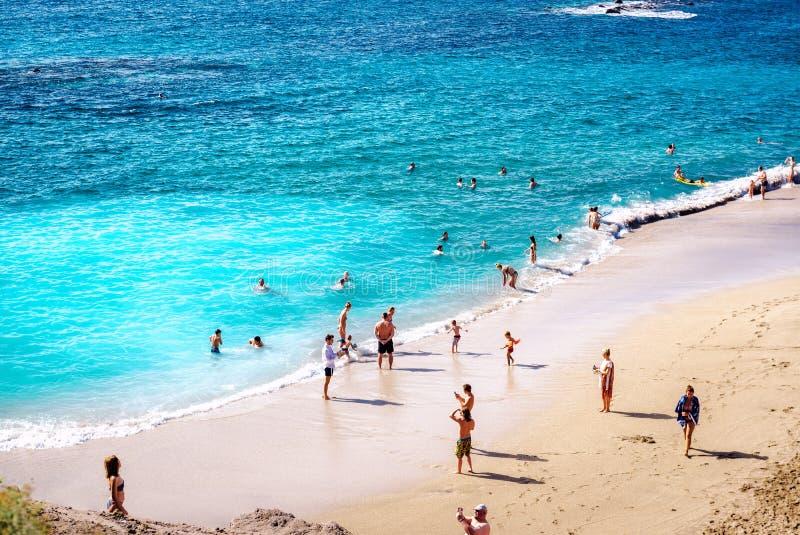 Strand för El Duque arkivfoton