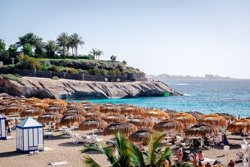 Strand för El Duque kanariefågelöar tenerife royaltyfri fotografi