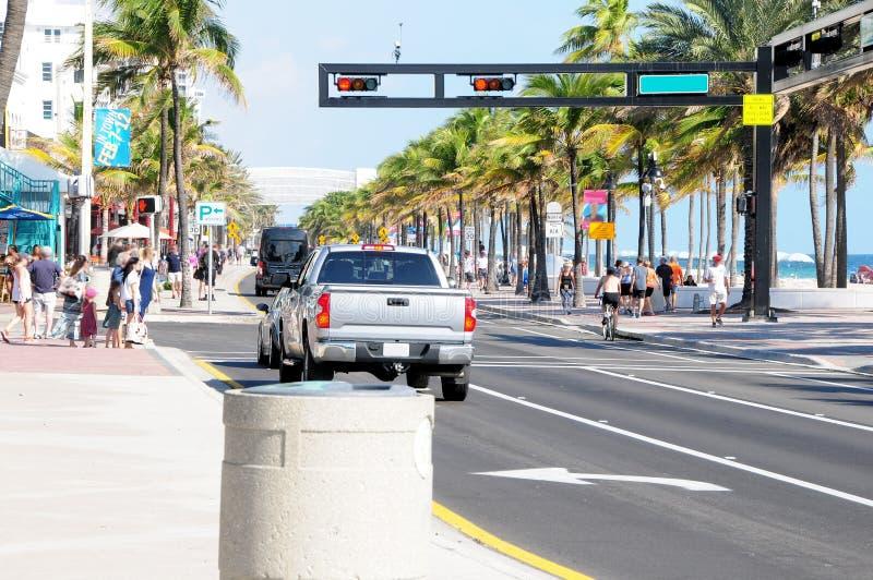 Strand för A1A Ft Lauderdale arkivfoton