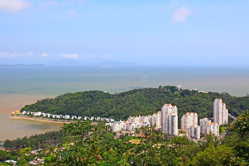 Strand för Hac Sa, Macao, Kina arkivfoton