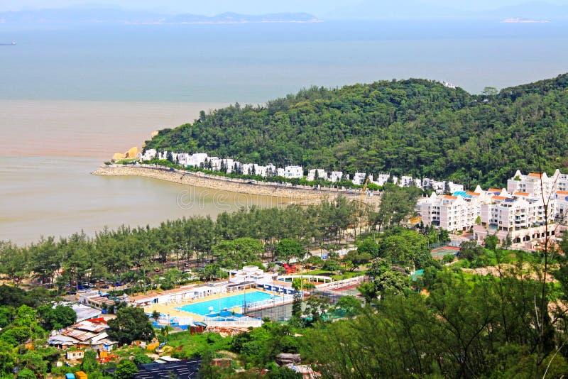 Strand för Hac Sa, Macao, Kina royaltyfria foton