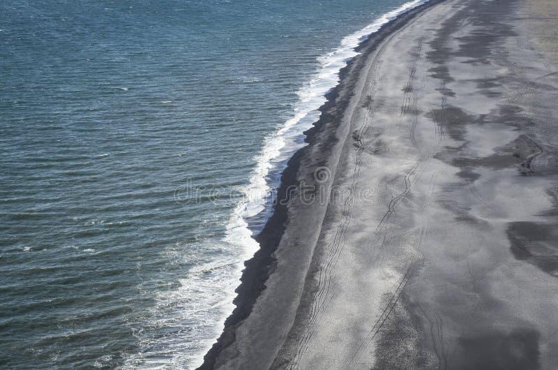 Strand för Island svartsand royaltyfria foton