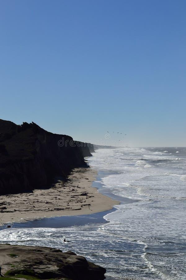 Strand för kust för hav US1 sandig arkivfoton