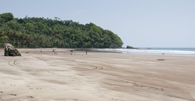 Strand för sju våg, São Tomé och Príncipe fotografering för bildbyråer