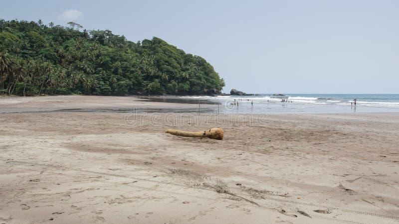 Strand för sju våg, São Tomé och Príncipe arkivfoto