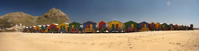 strand förlägga i barack panorama- royaltyfri foto
