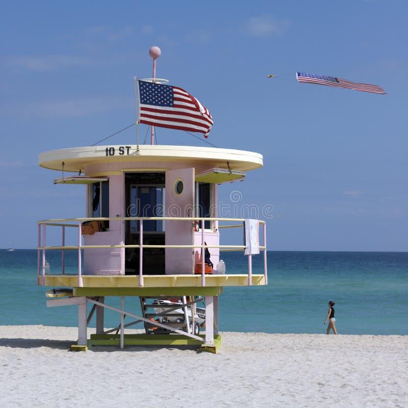 strand florida miami USA arkivbild