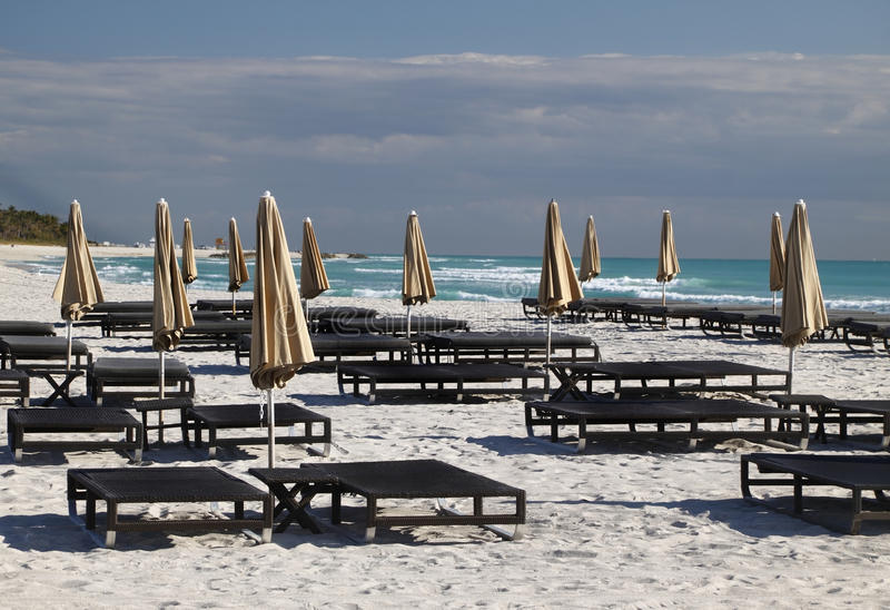 strand florida södra miami royaltyfri bild