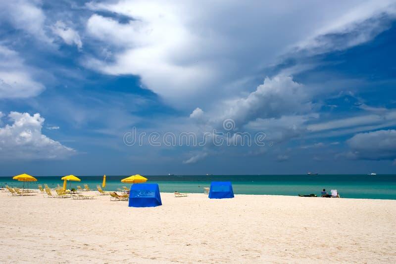 strand florida södra miami arkivfoto