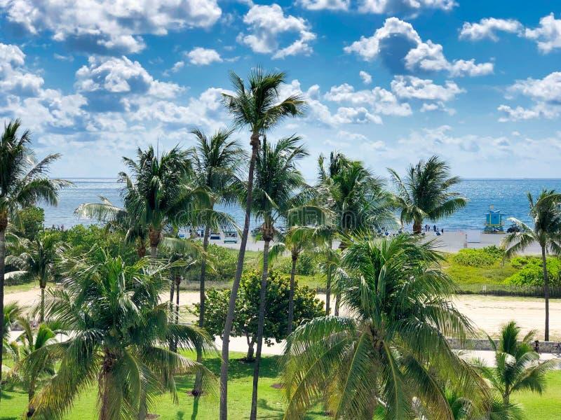 strand florida s?dra miami arkivfoton