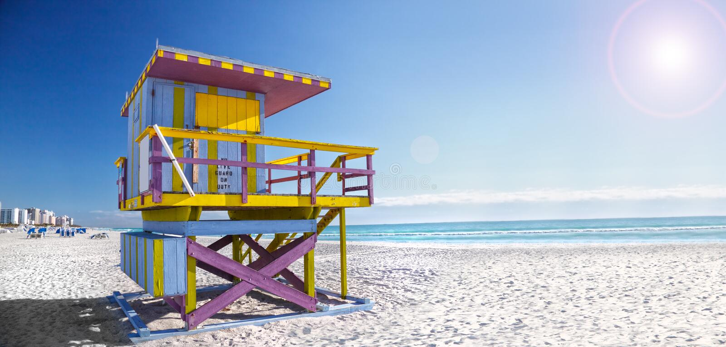 strand florida södra miami royaltyfri fotografi