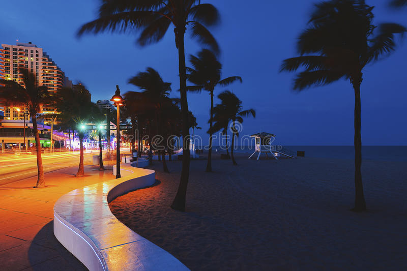 strand Fort Lauderdale royaltyfri foto