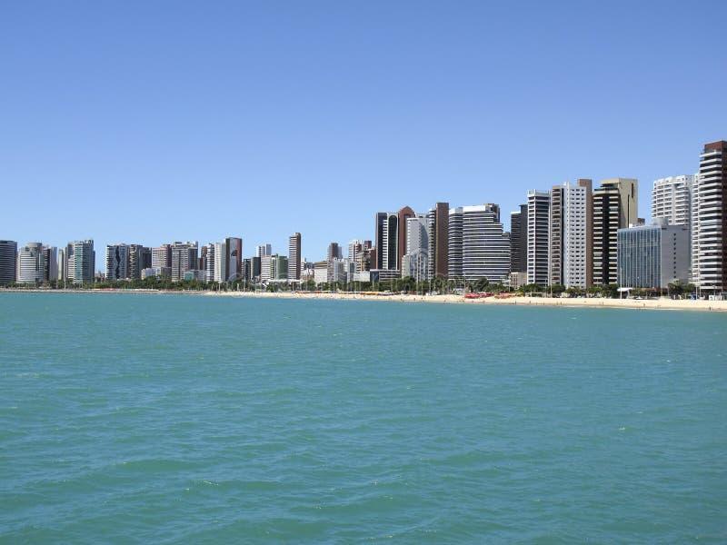 Strand in Fortaleza, Ceara, Brazilië stock afbeelding