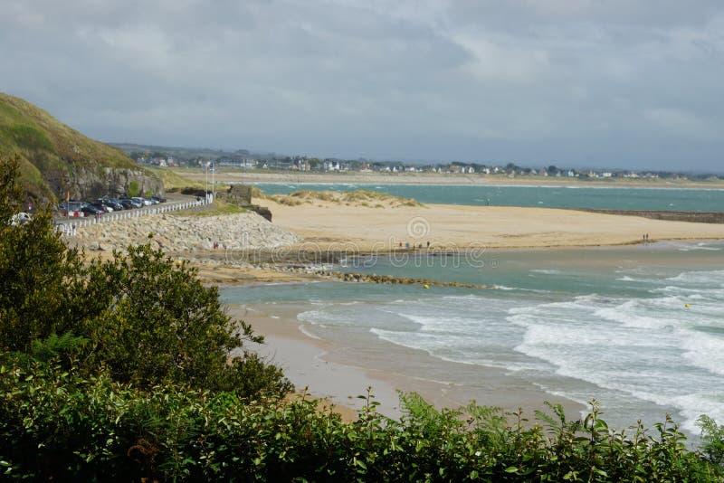 Strand in Frankreich lizenzfreie stockfotos