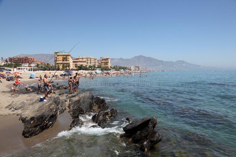 Strand in Fuengirola, Spanje royalty-vrije stock fotografie