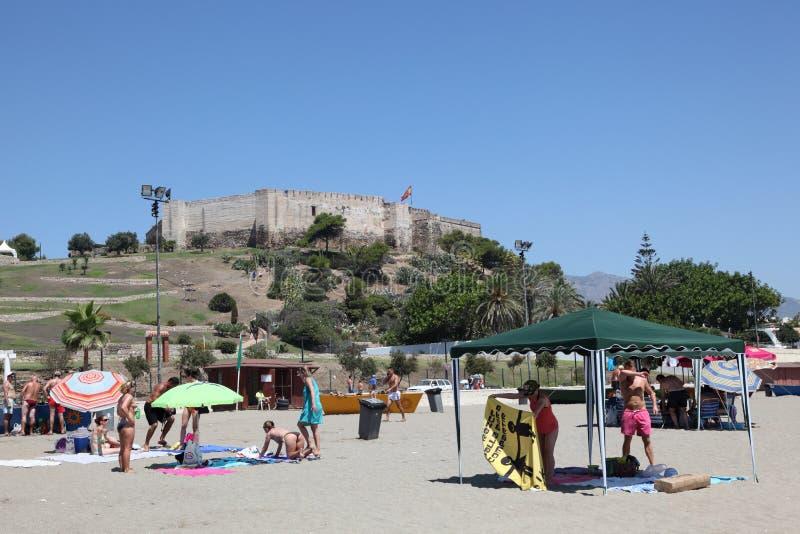 Strand in Fuengirola, Spanje stock foto