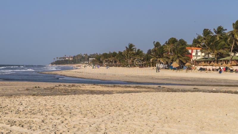 Strand in Gambia royalty-vrije stock foto's