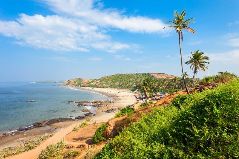 Strand in Goa, India royalty-vrije stock foto's