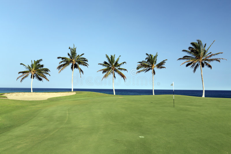 Strand-Golfplatz, Kona, HI lizenzfreie stockfotografie