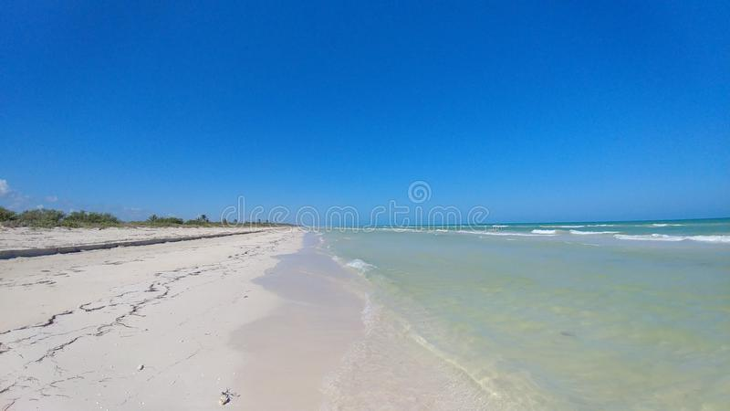 Strand in Gr Cuyo, Mexico stock afbeelding