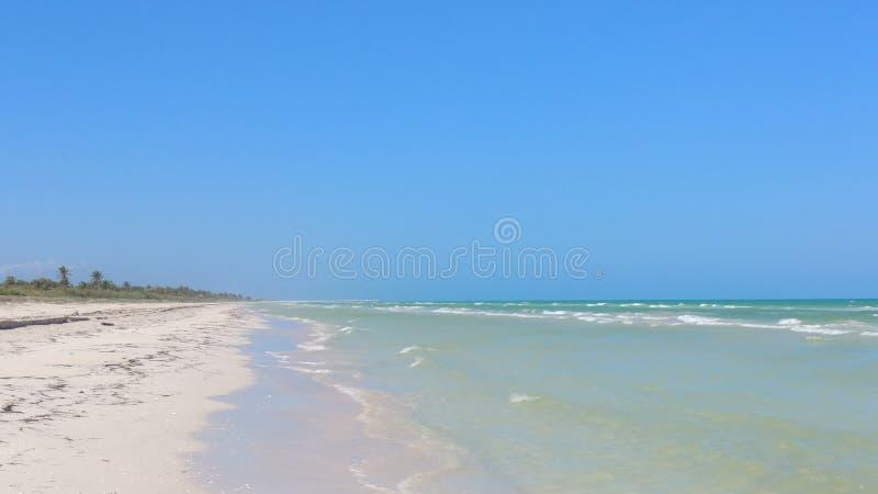 Strand in Gr Cuyo, Mexico stock afbeeldingen