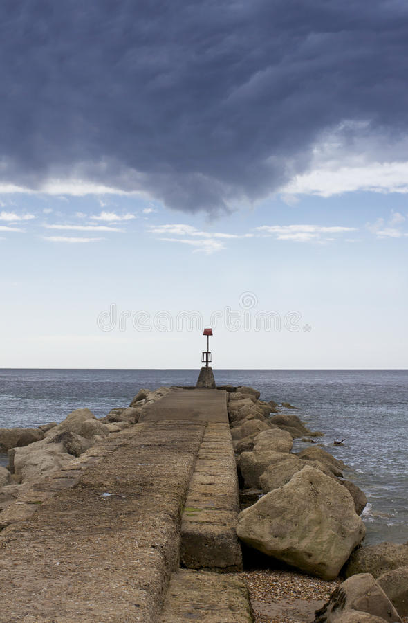 Strand Groyne stockfotos