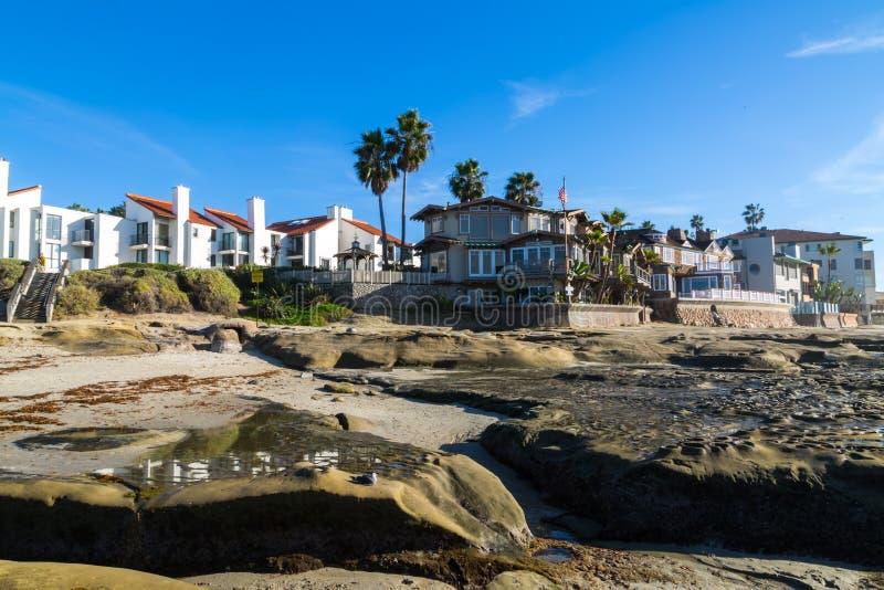 Strand-Häuser lizenzfreie stockfotos