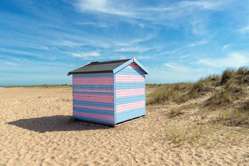 Strand-Hütte in Great Yarmouth stockbilder