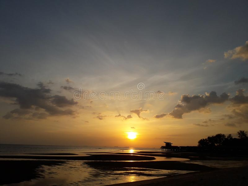 Strand Hafen Dickson Malaysia lizenzfreie stockbilder