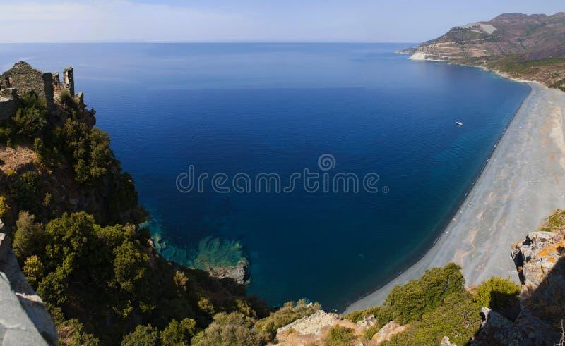 Strand, Haute-Corse, Corsica, Hoger Corsica, Frankrijk, Europa, eiland royalty-vrije stock fotografie
