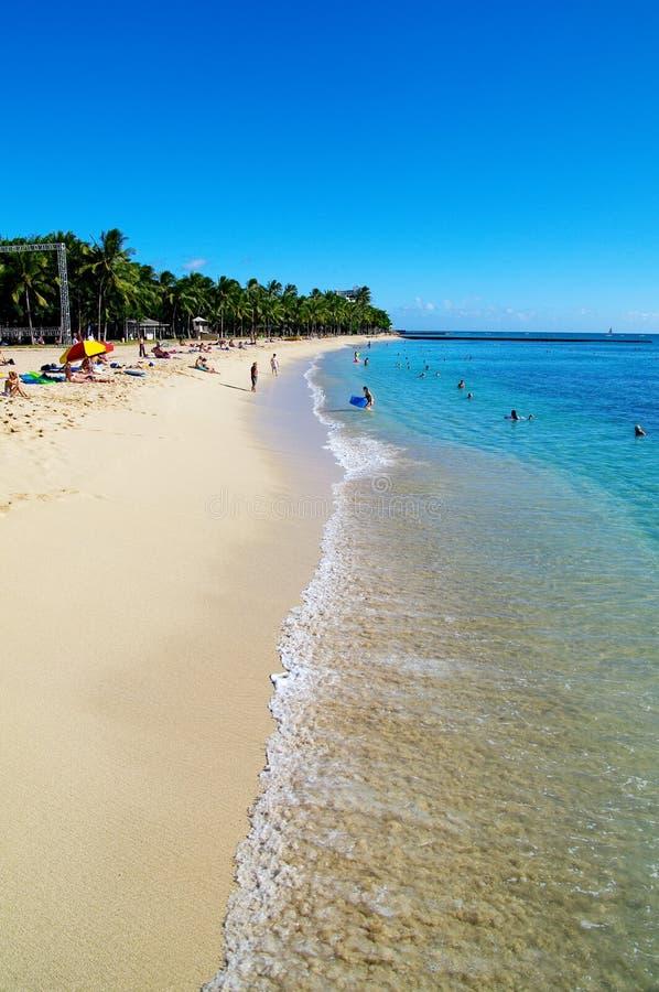 Strand in Hawaï royalty-vrije stock afbeeldingen