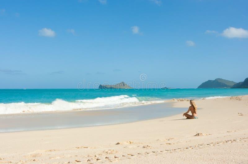 strand hawaii royaltyfri bild